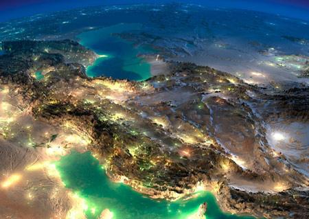 تصویر ماهوراه ای نقشه ایران satellite of iran