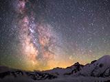 منظره ستارگان کهکشان راه شیری
