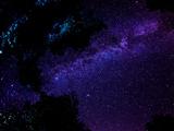 عکس راه شیری در آسمان شب