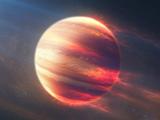 سیاره آتشین در فضا