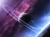 عکس زیبا سیاره حاله دار در کهکشان