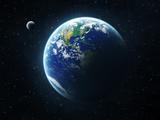 عکس باکیفیت کره زمین و ماه