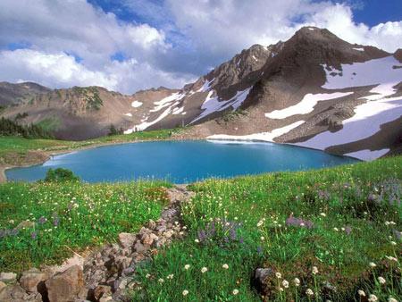 منظره دریاچه کوه گل یاسوج daryache koh gol