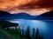 منظره رودخانه و کوهستان