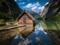 زیباترین منظره دریاچه و کلبه