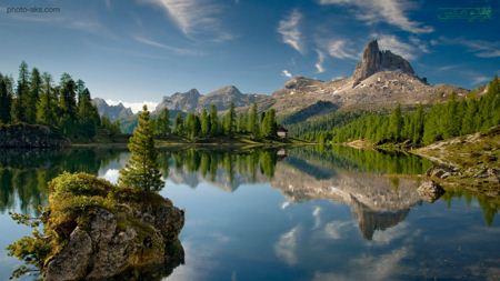 زیباترین منظره طبیعت دریاچه  Beautiful landscape
