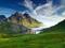 منظره سبز کوهستانی