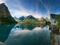 منظره انعکاس تصویر کوه ها