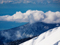 منظره ابرها در قله کوه