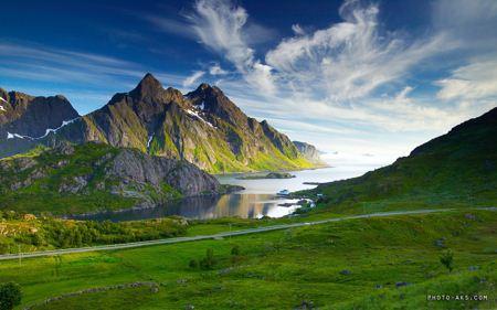 منظره سبز کوهستانی green landscape
