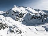 عکس منظره برفی کوهستان