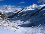 منظره برفی کوهستان