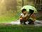 عکس بچه ها زیر باران