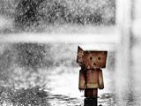 عکس غمگین زیر باران