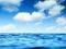 منظره آبی دریای آرام