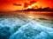 عکس جادویی امواج دریا و غروب