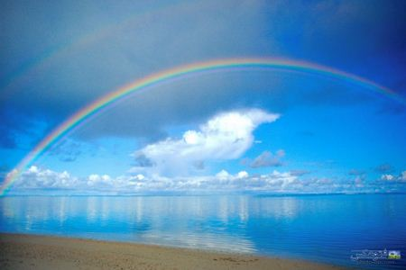      rainbow in sea