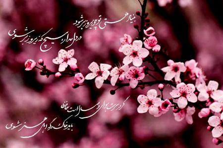 عکس نوشته شکوفه بهاری aks neveshte bahari
