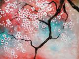 نقاشی شکوفه گلهای درختان