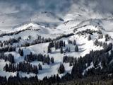 منظره زمستانی کوه های امریکا