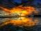 منظره جادویی غروب خورشید