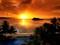 غروب خورشید در کنار ساحل