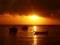 منظره غروب نارنجی در دریا