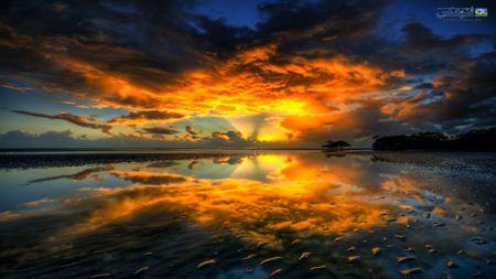 منظره جادویی غروب خورشید magical sence of sunset