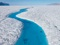 رودخانه آبی در گرینلند