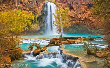 زیباترین مناظر آبشاری beautiful waterfall nature