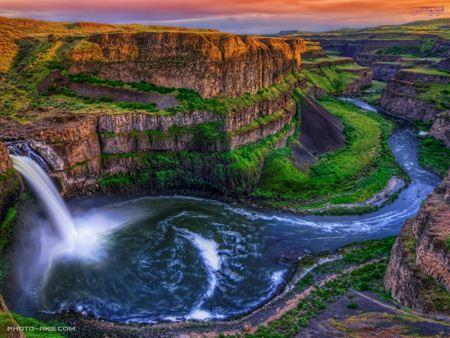 آبشار پالوس واشنگتن امریکا watter fall palouse