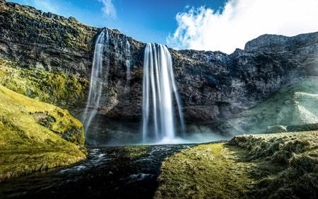 عکس آبشار فوق العاده زیبا waterfalls wallpaper