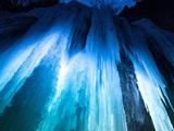 آبشار یخ زده پارک کلرادو