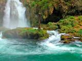 عکس منظره زیبای آبشار