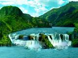 عکس روخانه و آبشار منظره استوایی