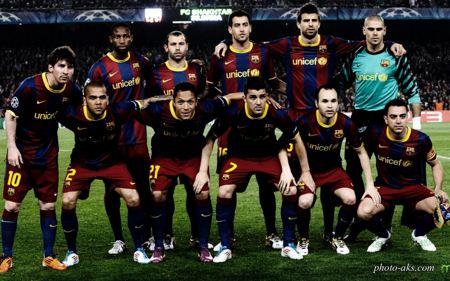 عکس تیمی و گروهی بارسلونا fc barcelona