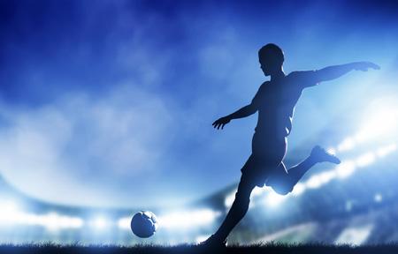 پوستر زیبا شوت توپ فوتبالیست shot ball soccer