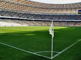 پرچم کرنر در زمین استادیوم فوتبال