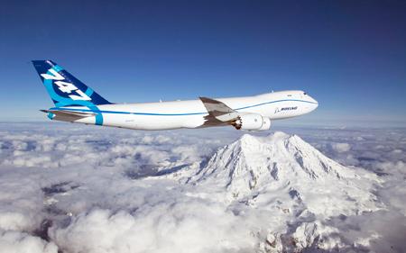 بوئینگ 747 بر فراز قله کوه parvaz boing