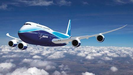 پرواز هواپیما در آسمان boeing 747 fly sky