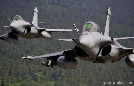 مانور هوایی جنگنده فرانسوی dassault rafale