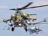 مانور هوایی هلیکوپترهای روسی