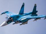 عکس پرواز جنگنده سوخو روسی