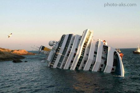 کشتی غرق شده کروز costa concordia cruise ship