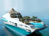 عکس کشتی تفریحی جزیره ای جالب