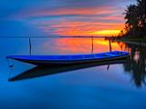 منظره قایق و افق زیبای دریا