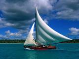 قایق بادبانی در جزایر کارائیب