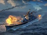 عکس کشتی جنگی در حال نبرد