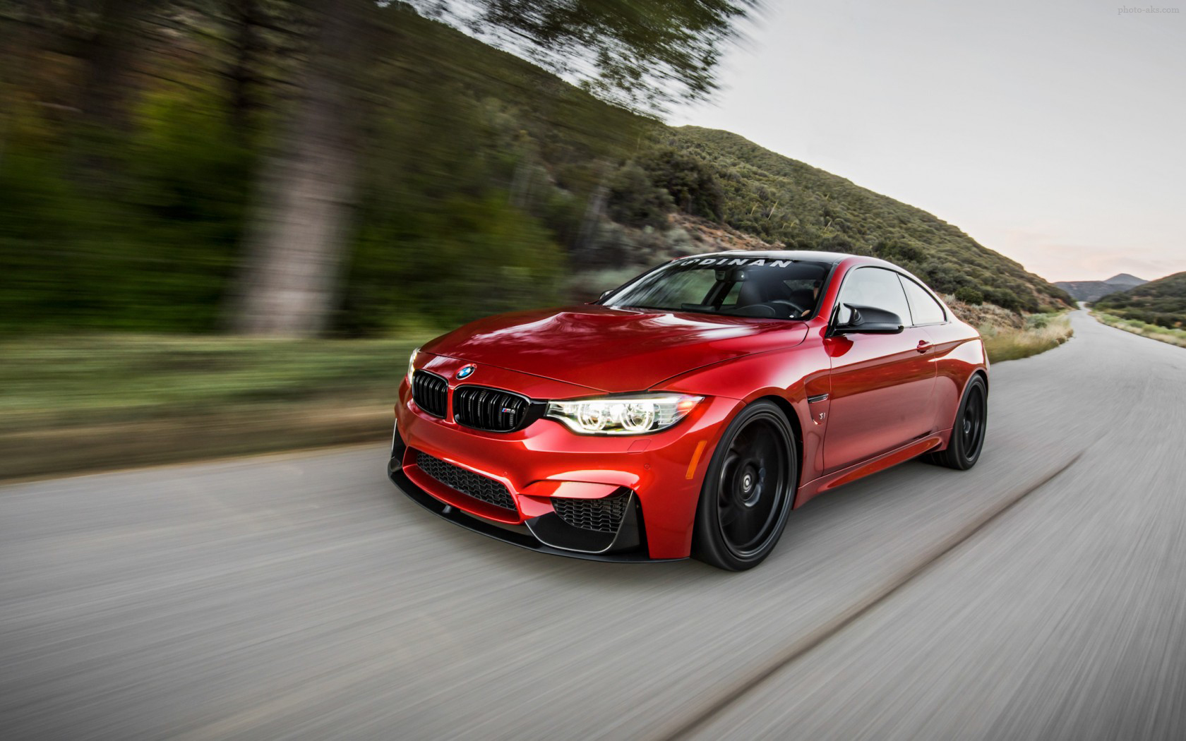 پوستر ماشین بی ام دبلیو ام چهار bmw m4 red speed car