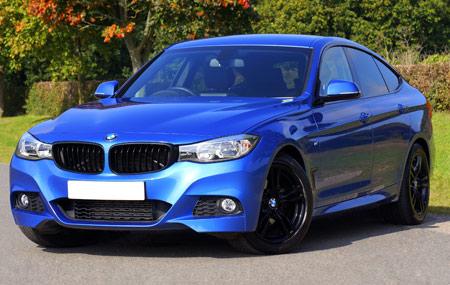 عکس بی او دبلیو سدان آبی blue bmw sedan